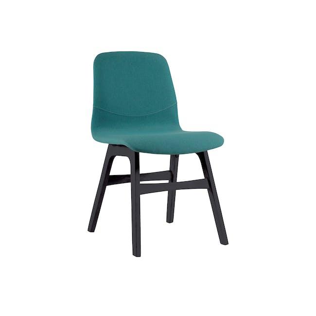 Ava Dining Chair - Black Ash, Emerald - 0