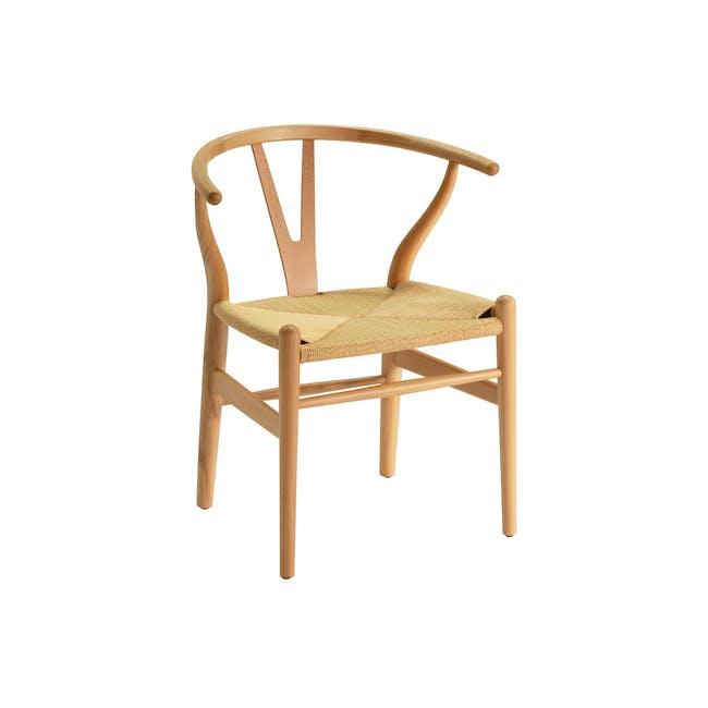 Wishbone Chair Replica - Beech, Natural Cord - 0