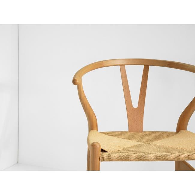 Wishbone Chair Replica - Beech, Natural Cord - 4