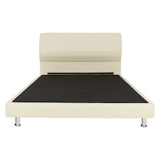Sydney Headboard Bed - Cream (Faux Leather)