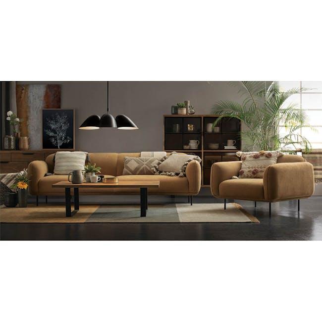 Miura 3 Seater Sofa - Turmeric (Easy Clean Fabric) - 7