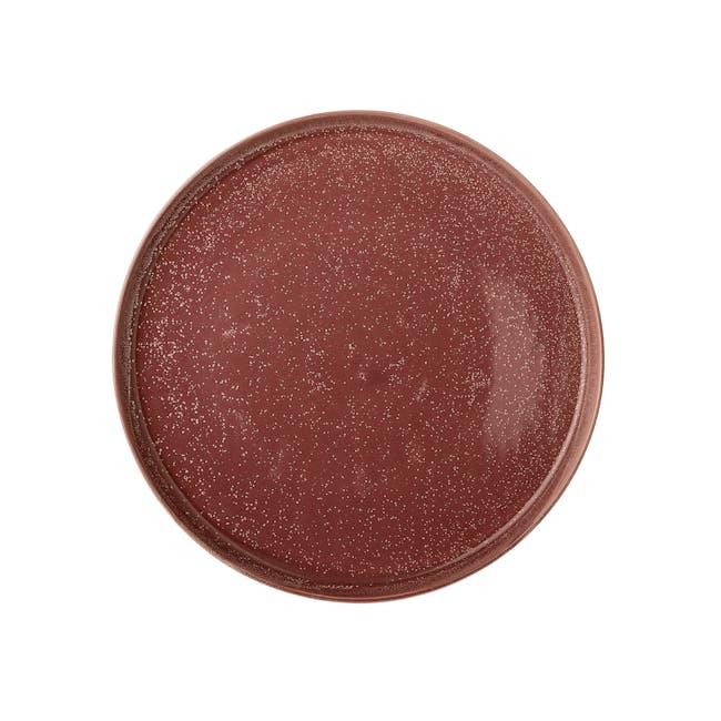 Juha Ceramic Tray - Speckled Red - 1
