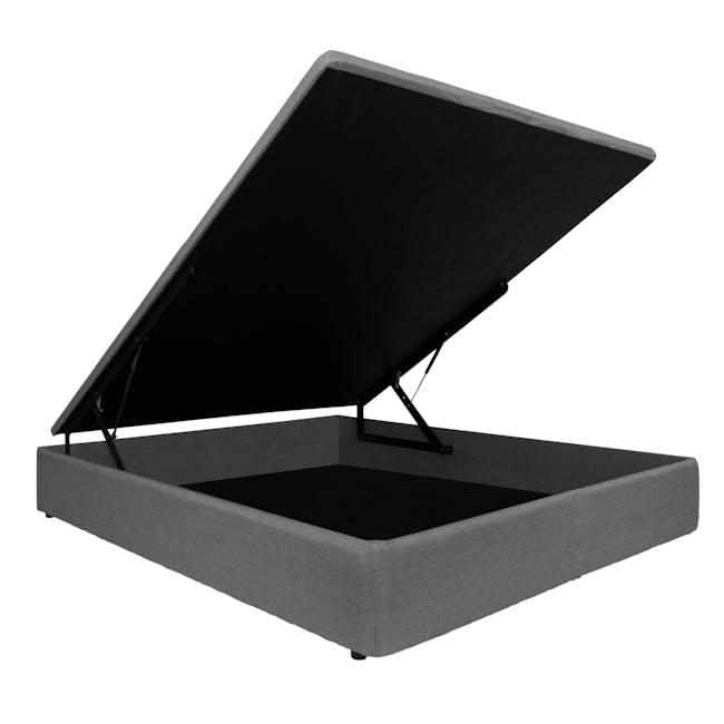 ESSENTIALS Queen Storage Bed - Grey (Fabric) - 1