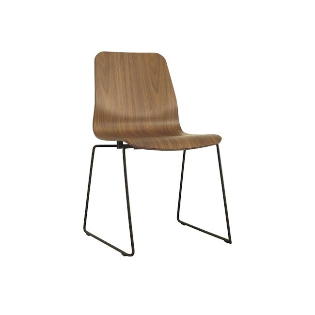 Bianca Dining Chair - Matt Black, Walnut - 0