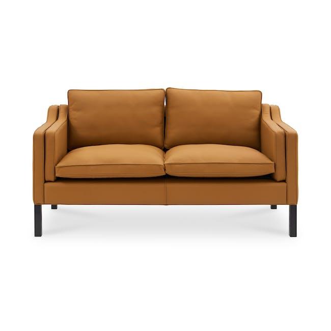 Borge Mogensen 2213 2 Seater Sofa Replica - Tan (Genuine Cowhide) - 0