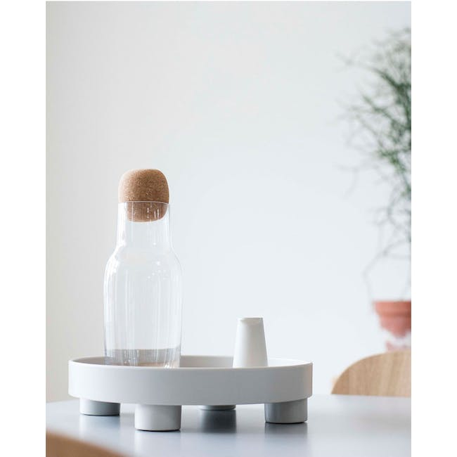 Edd Nordic Tray with Stand - Grey - 5