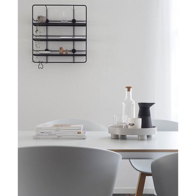 Edd Nordic Tray with Stand - Grey - 1