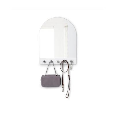 Peek Mirror - White, Nickle - Image 1