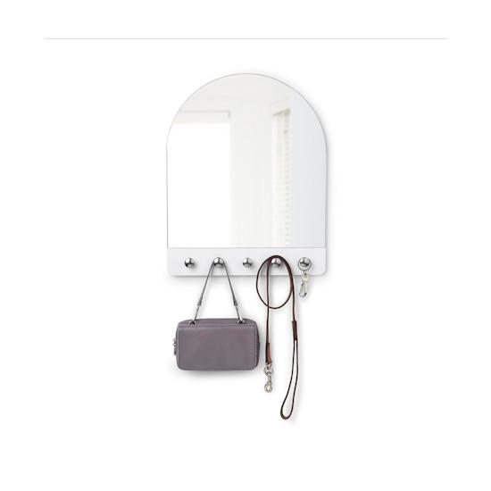 Umbra - Peek Mirror - White, Nickle