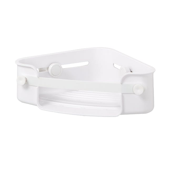 Flex Gel-Lock Corner Bin - White - 2