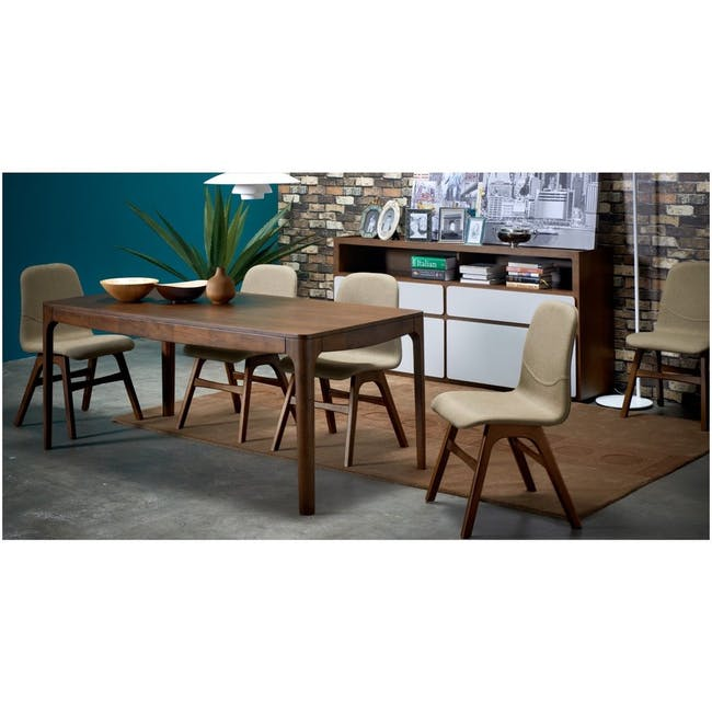 Ava Dining Chair - Black Ash, Ruby - 6