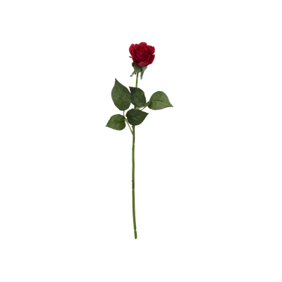 Faux Rose Stem - Red - Image 1
