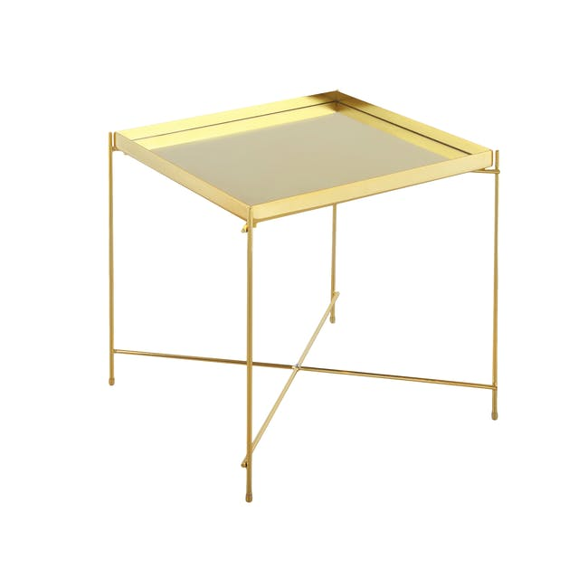 Chloe Square Side Table - Champagne - 0