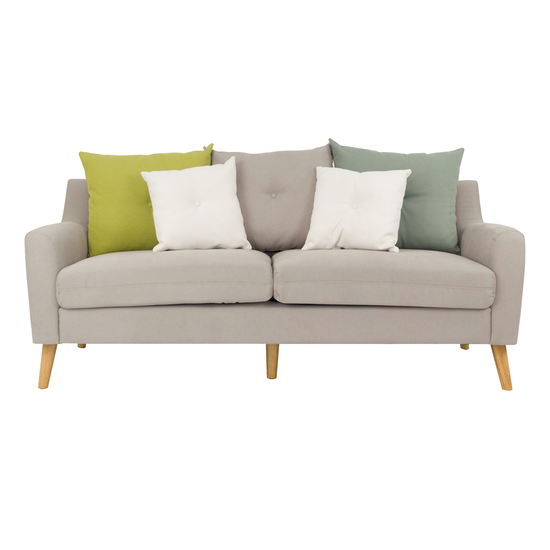 Evan 3 Seater Sofa With Cushions Sand