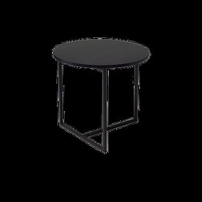 Felicity Round Side Table - Black Ash - Image 1
