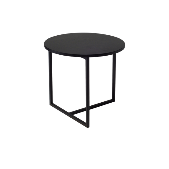Helga Felicity Round Side Table Black Ash Hipvan