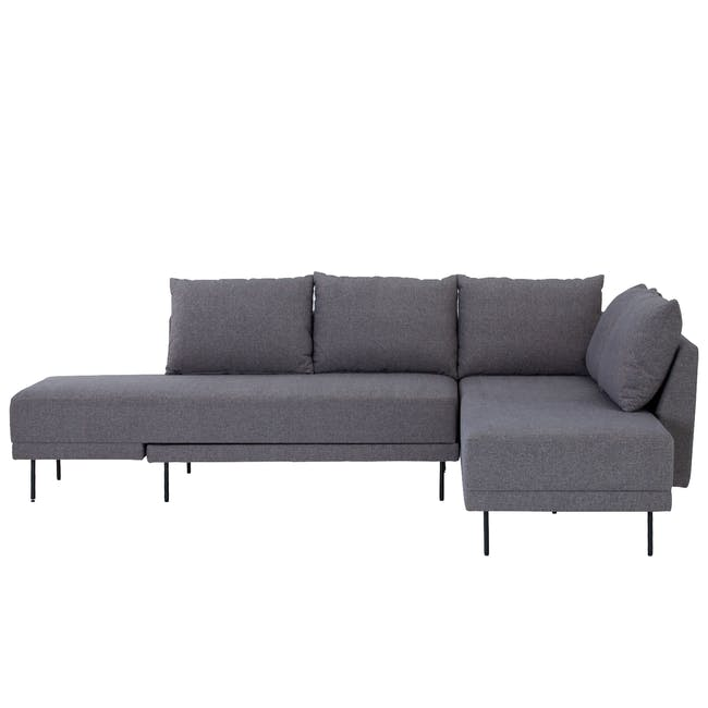Antwon L-Shaped Sofa Bed - Grey (Easy Clean Fabric) - 0