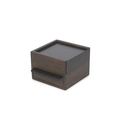 Mini Stowit Storage Box - Black, Walnut - Image 1