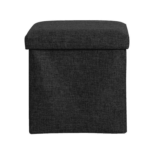 Domo Foldable Storage Cube Ottoman - Black - 1