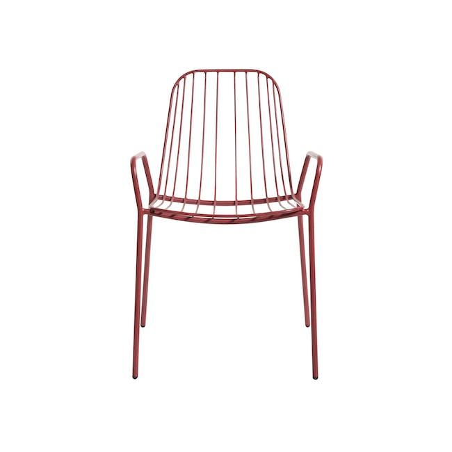 Nerissa Outdoor Armchair - Matt Red - 4