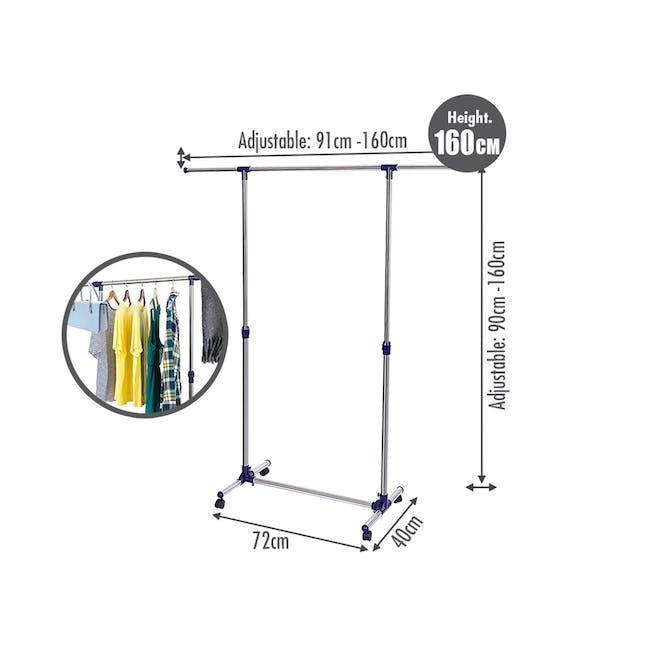 Telescopic Single Pole Clothes Hanger - 1