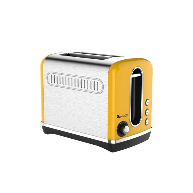 Odette Streamline 2-Slice Bread Toaster - Yellow - 1