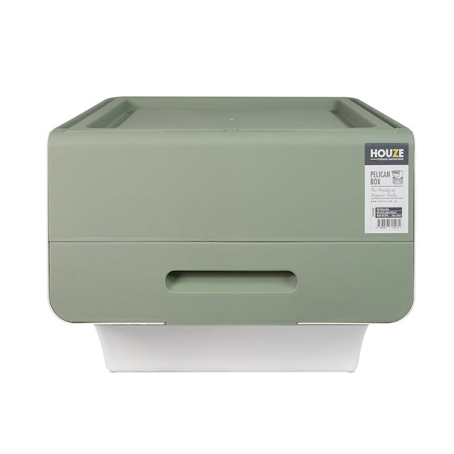 35L Pelican Box with Lid - Green - 0