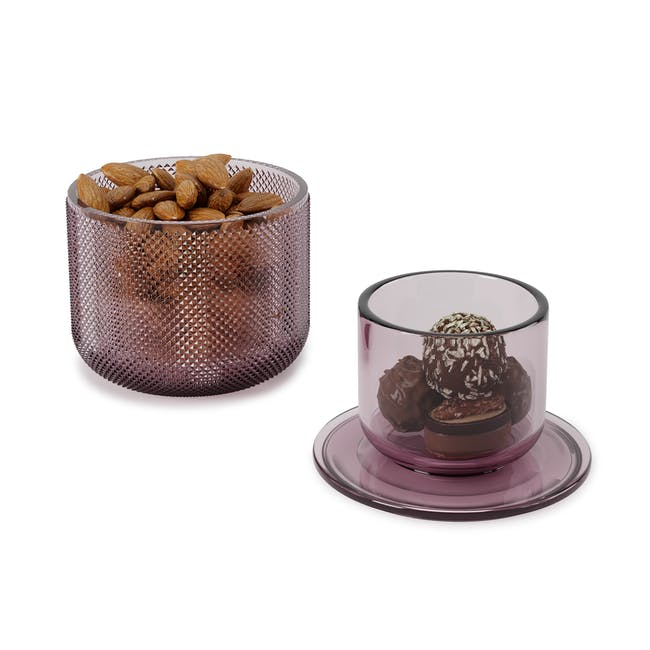 Allira Glass Organiser - Purple - 3