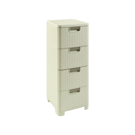 Curver - Rattan Style Drawer 4 - Off White