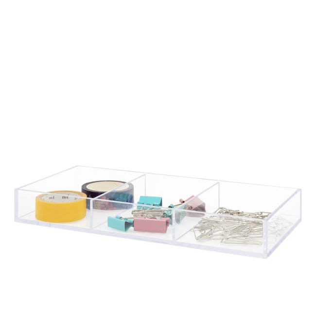 Nakabayashi Acrylic Tray - 3 Compartments - 1