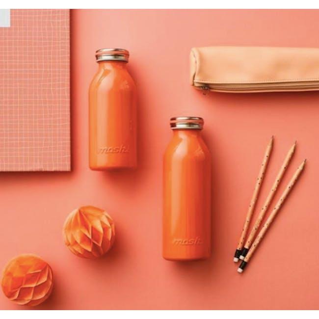 MOSH! Double-walled Stainless Steel Bottle 450ml - Lite Orange - 1