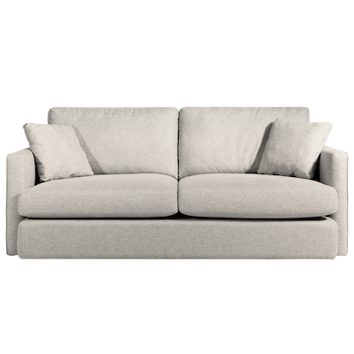 Ashley 3 Seater Lounge Sofa - Cream - Image 1
