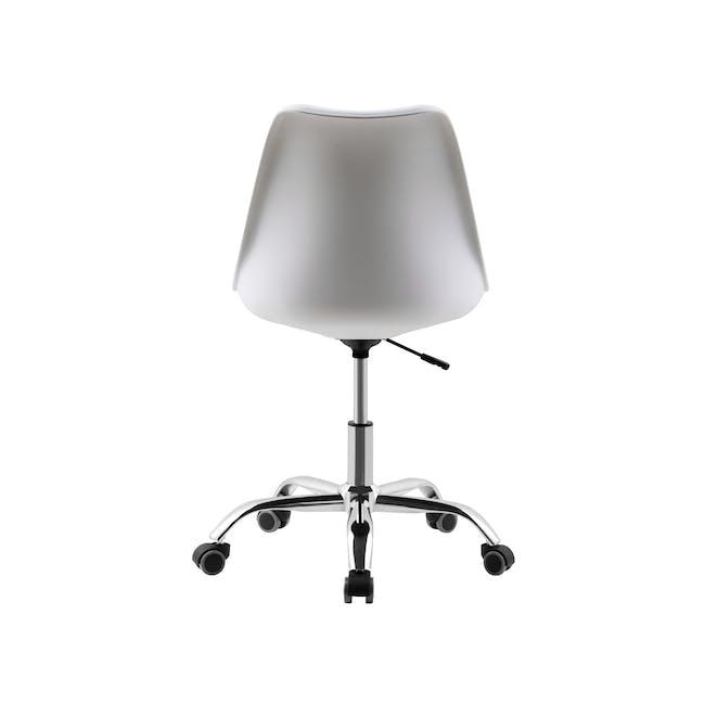 Linnett Mid Back Office Chair - White - 4