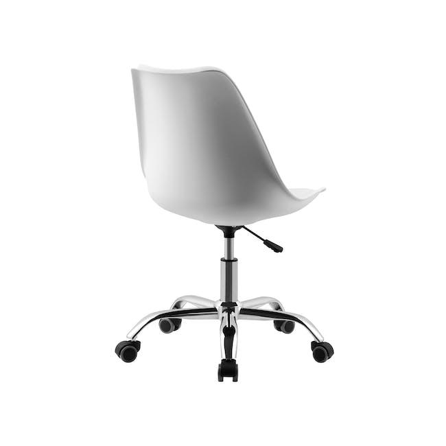 Linnett Mid Back Office Chair - White - 3