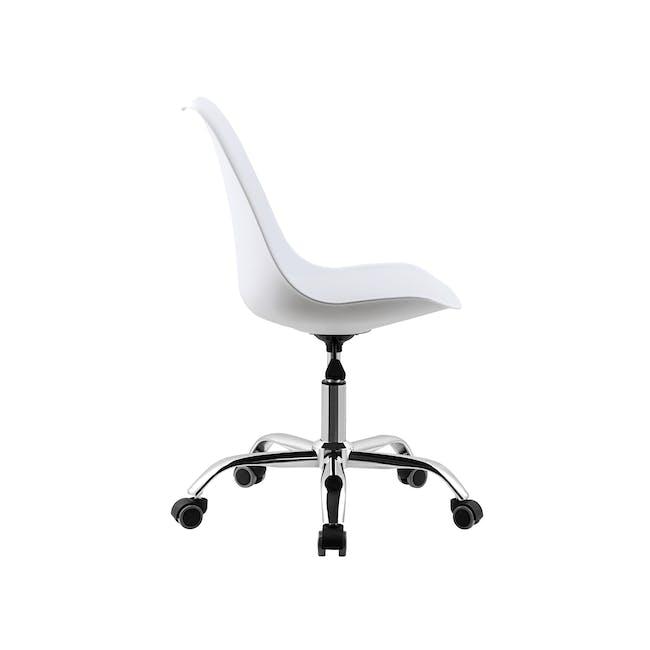 Linnett Mid Back Office Chair - White - 2