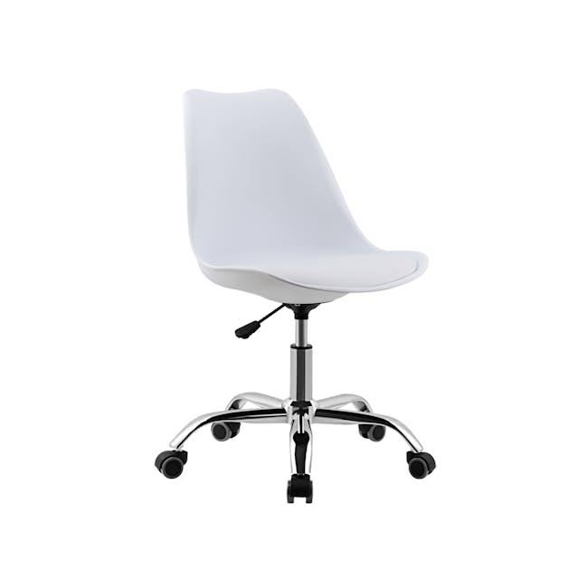 Linnett Mid Back Office Chair - White - 0