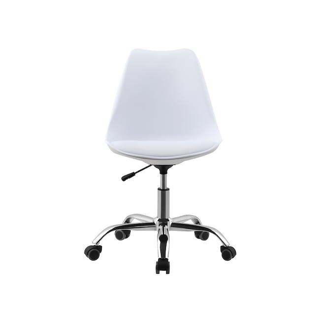 Linnett Mid Back Office Chair - White - 1