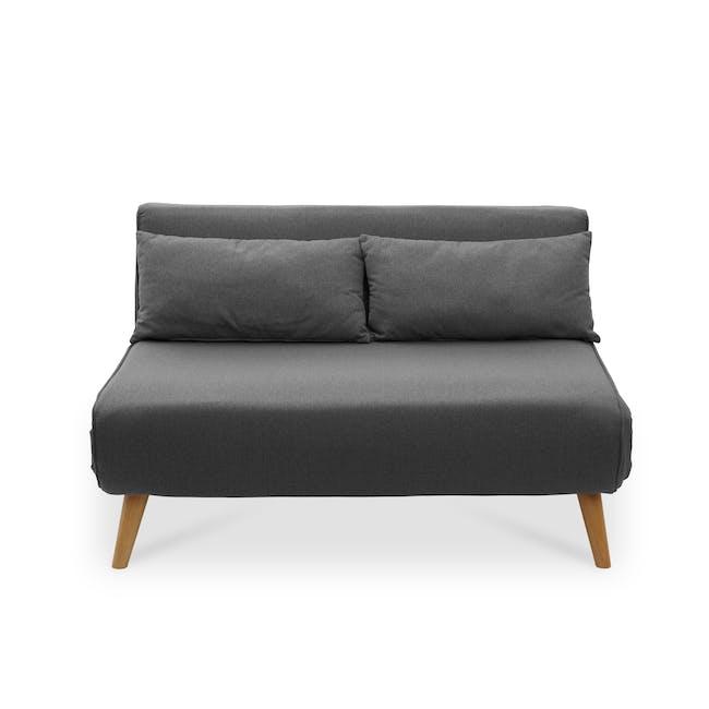 Noel 2 Seater Sofa Bed - Ebony - 0