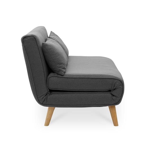 Noel 2 Seater Sofa Bed - Ebony - 5