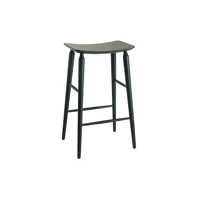 Hester Bar Stool - Charcoal Grey Lacquered - 3