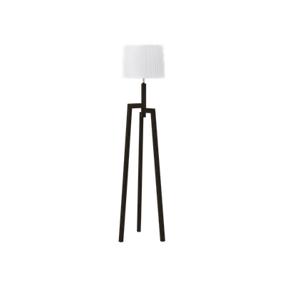 Maya Floor Lamp - Walnut, White - Image 2