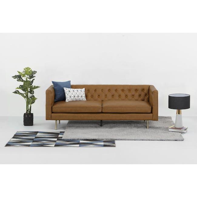Cadencia 3 Seater Sofa - Tan (Faux Leather) - 12