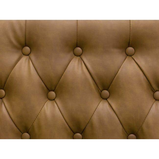 Cadencia 3 Seater Sofa - Tan (Faux Leather) - 10
