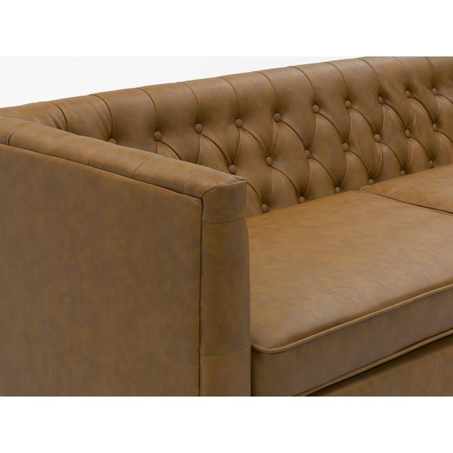 Cadencia 3 Seater Sofa - Tan (Faux Leather) - 8