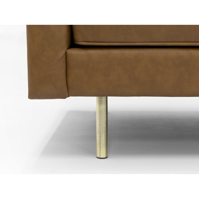 Cadencia 3 Seater Sofa - Tan (Faux Leather) - 2