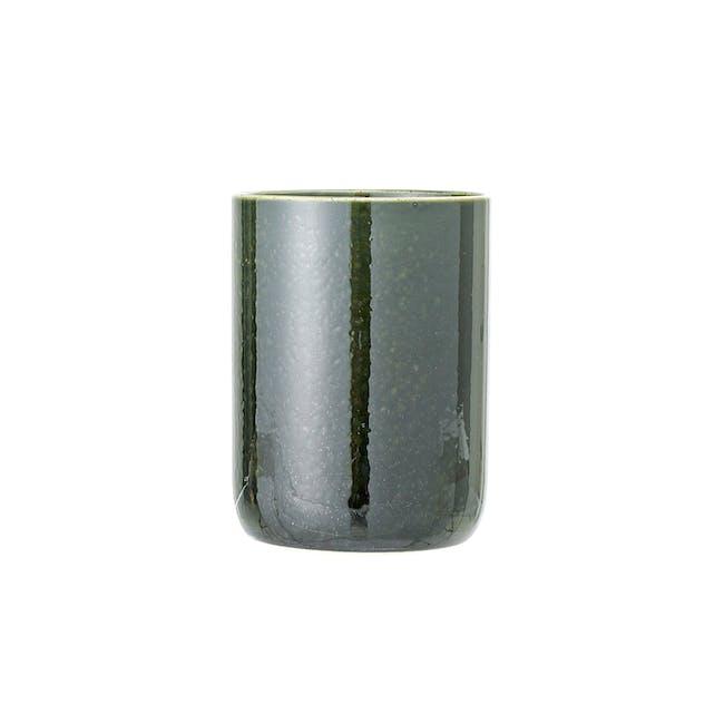 Haga Open Mouth Jar - Green with White Rim - 0