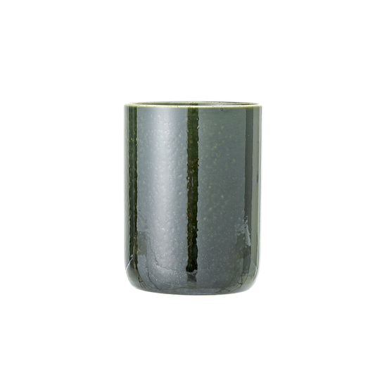 FYND - Haga Open Mouth Jar - Green with White Rim