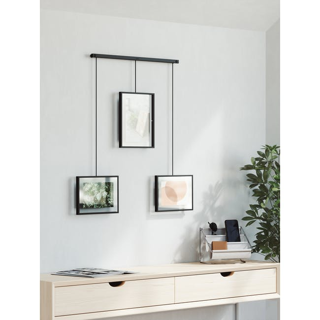 Exhibit 3 Frames Photo Display - Black - 5