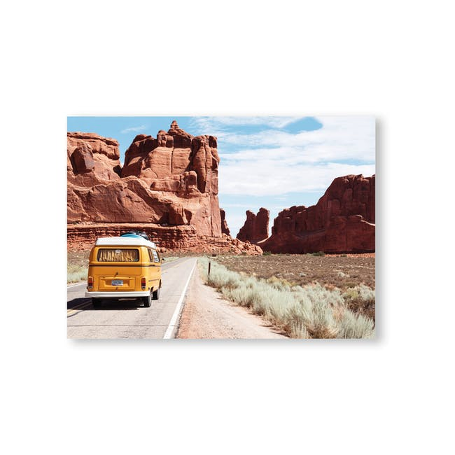 Borderless Adventure Art Print on Paper (2 Sizes) - Trip to the Red Canyon - 0