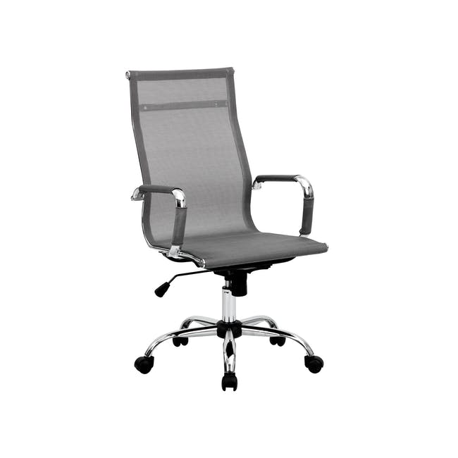Eames High Back Mesh Office Chair Replica - Grey - 6